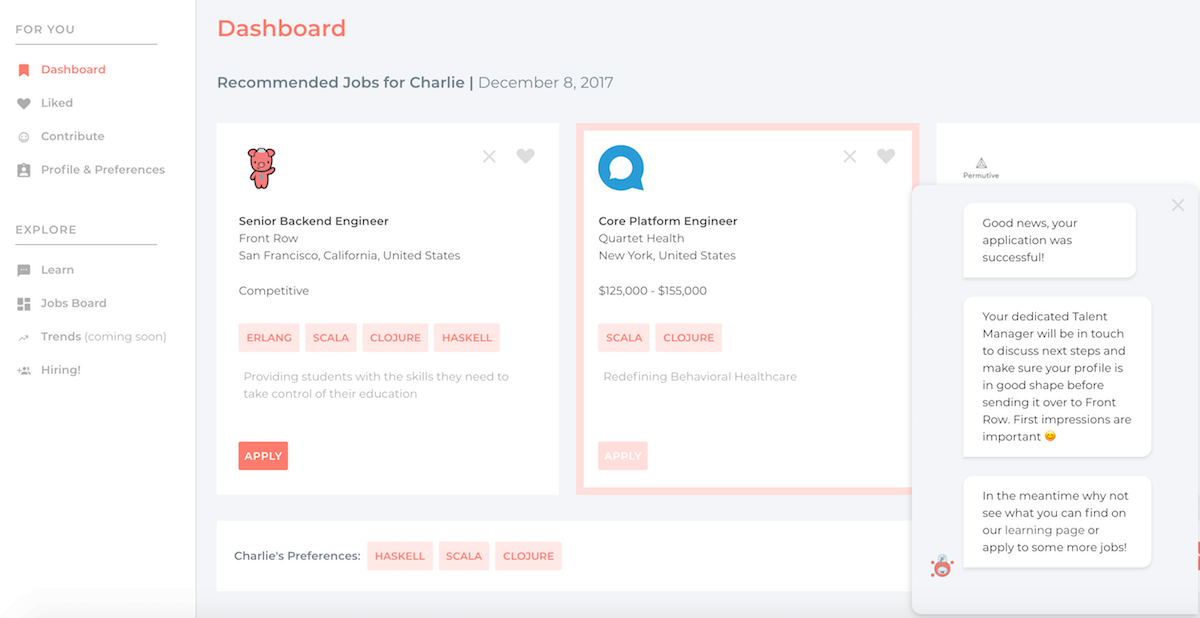 Dashboard screenshot