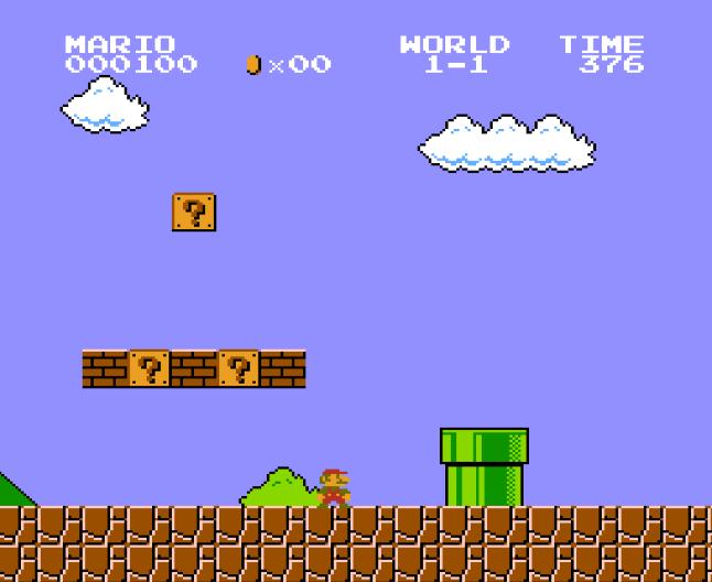 Mario image that somehow illustrates Elixir pipes